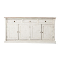 white sideboard beach reclaimed wood sideboard buffet in white - buffets and sideboards olkjmpe