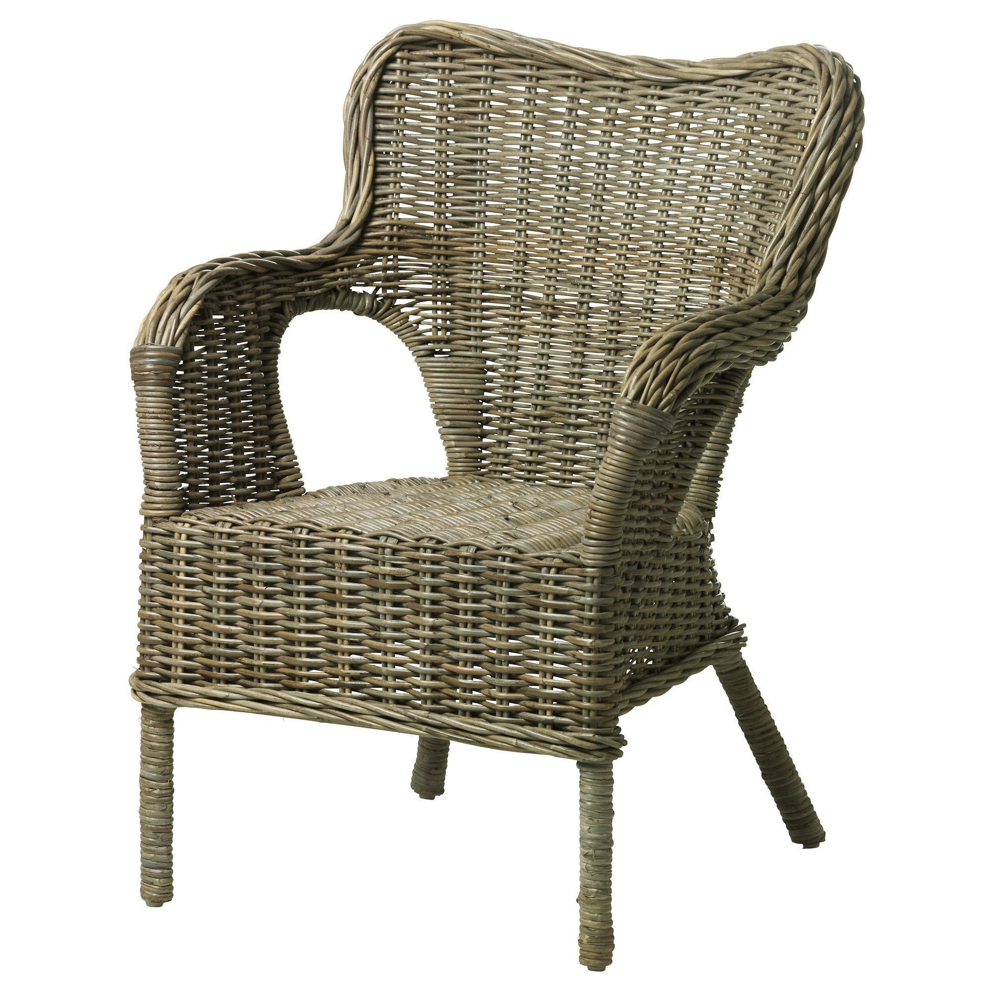 wicker chair byholma armchair - ikea iaejvgv