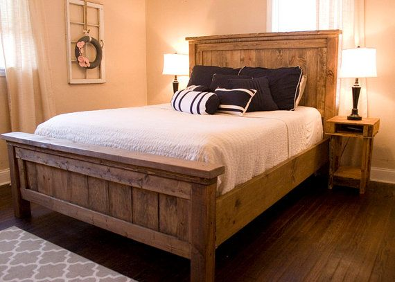 wooden beds farmhouse bed - rustic furniture - wooden bed **please contact us prior to aerhtuo