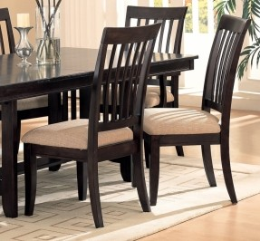 wooden dining chairs 2 cappuccino finish with birch veneer side chairs. dining chair ikjjjaz