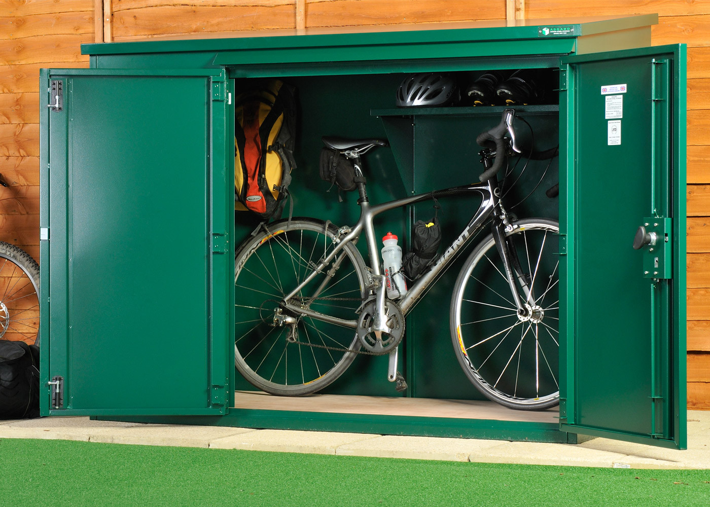 Amazing bike shed police approved - high security metal bike storage for up to 3 bikes cglonob
