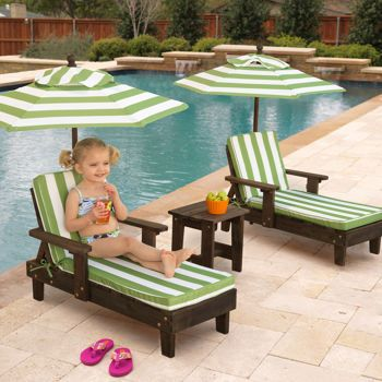 Amazing kids outdoor furniture costco: kidkraft outdoor youth chaise lounger set, my kids would love these! ydxyauk