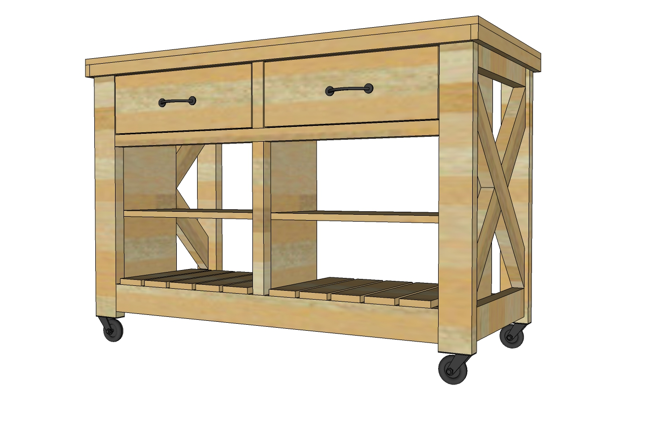 Amazing kitchen island plans free plans to build rustic x kitchen island - double width - from egviudz