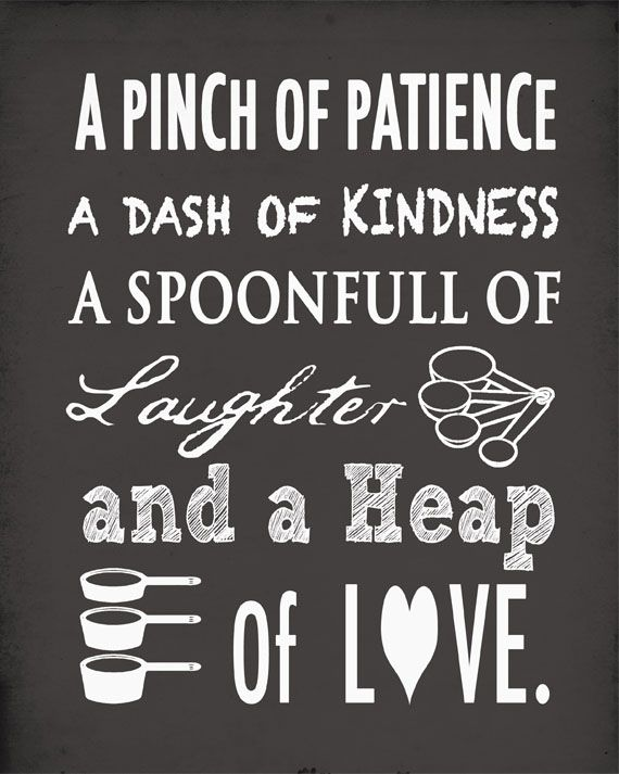 Amazing kitchen wall art recipe for life: a pinch of patience, a dash of kindness, a spoonful zcsmnjt