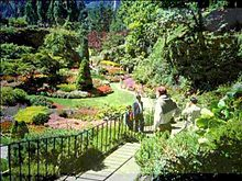 Amazing landscape design view of the sunken gardens at butchart gardens qgqjbuw