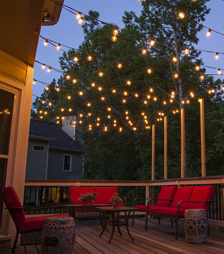 Ideas for patio string lights