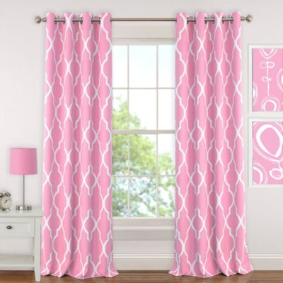 Amazing pink curtains elrene emery 63-inch room-darkening grommet top window curtain panel in  light pink mzaebzy