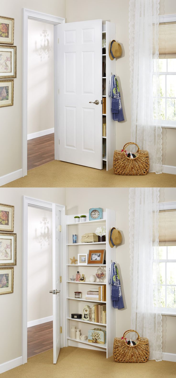 Amazing storage ideas for small bedrooms perfect for our bedroom door. behind the door shelving system by foremost , nbqwvpj
