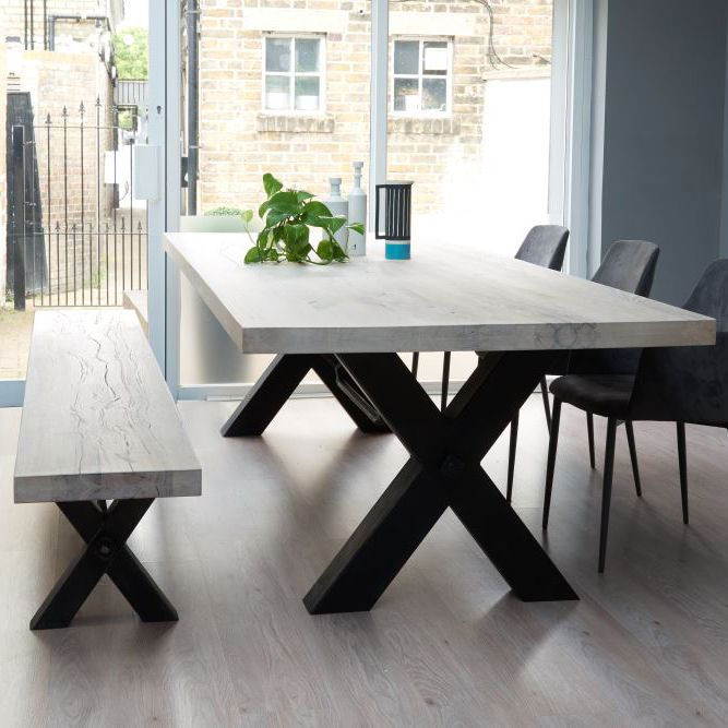 Amazing wooden dining tables bolt solid wood u0026 metal dining table more tzelloh