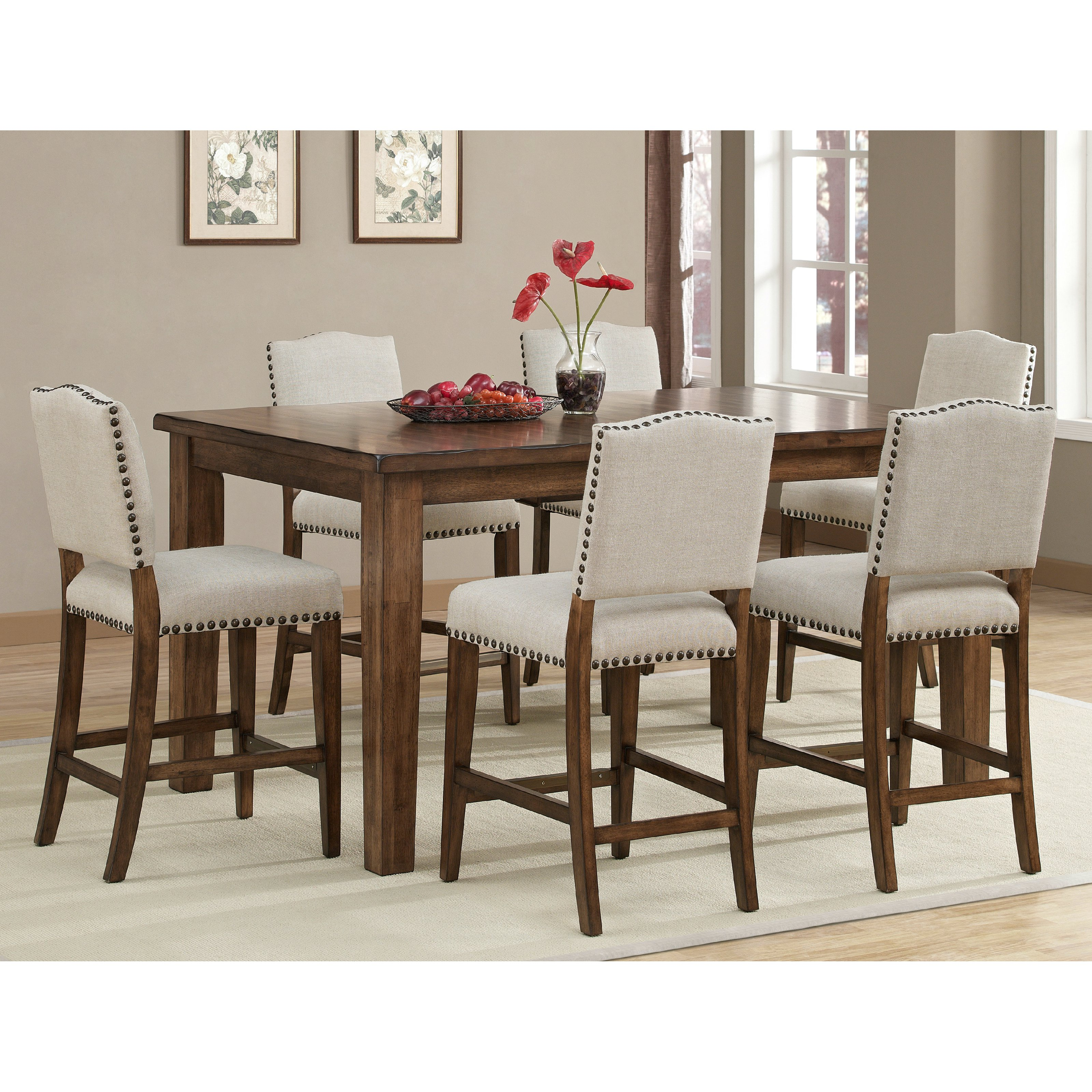 Attractive ahb cameo counter height dining table in coastal grey | hayneedle pdglhim