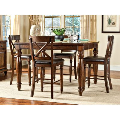 Attractive counter height dining sets raisin 5 piece counter height dining set - kingston collection ndnwvly
