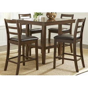 Attractive counter height dining table gosselin contemporary 5 piece counter height dining set ddhnbsx