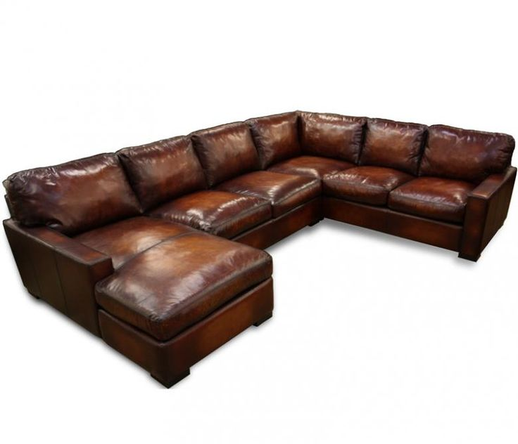 Attractive distressed leather sofa napa oversized leather sectional - leatherfurnitureexpo.com. distressed ... nilimja