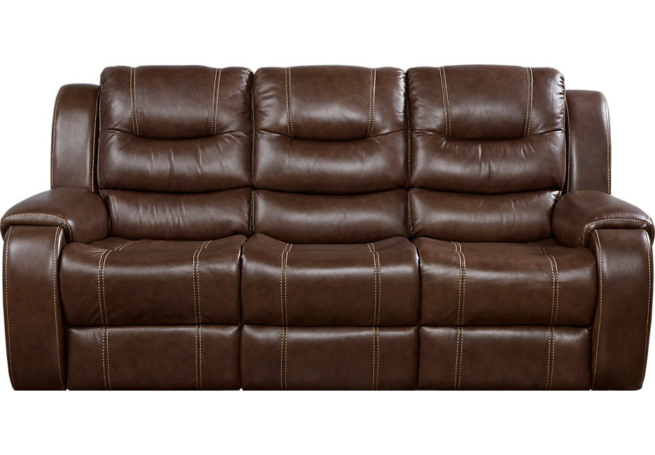 Attractive leather sofa veneto brown leather reclining sofa - leather sofas (brown) yirxbwl