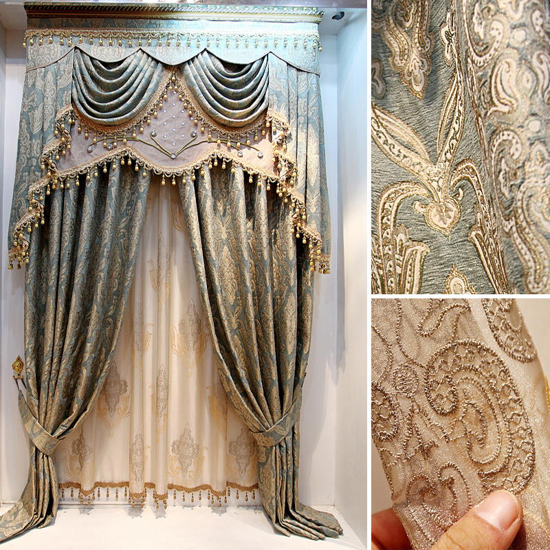 Attractive luxury curtains the blind vivian quality jacquard room curtain . ... gpghbme