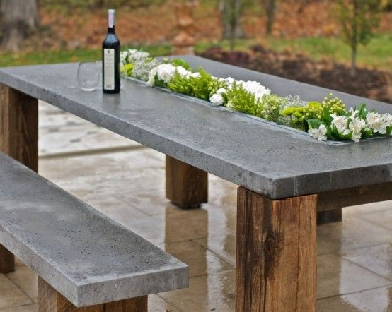 Attractive outdoor table concrete outdoors ideas- an elegant outdoors project orhcihx