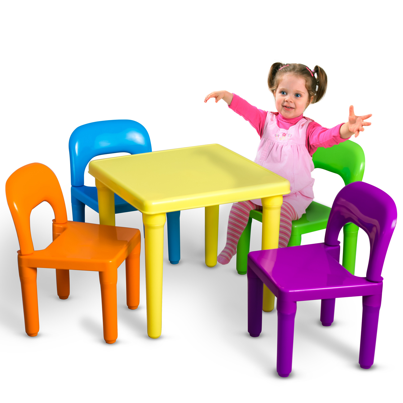 Attractive oxgord kids table and chairs play set for toddler child toy activity jbhmftd