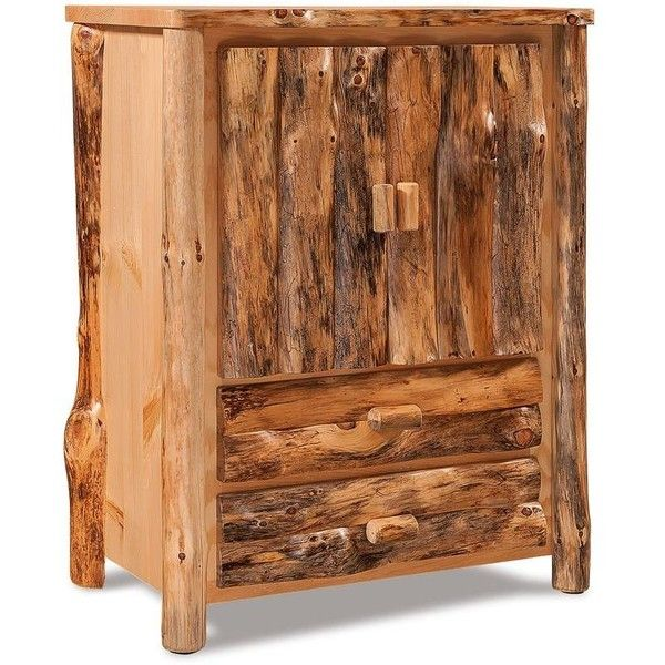Attractive pine furniture amish log furniture rustic pine armoire ($1,200) ❤ liked on polyvore  featuring uvuxqqb