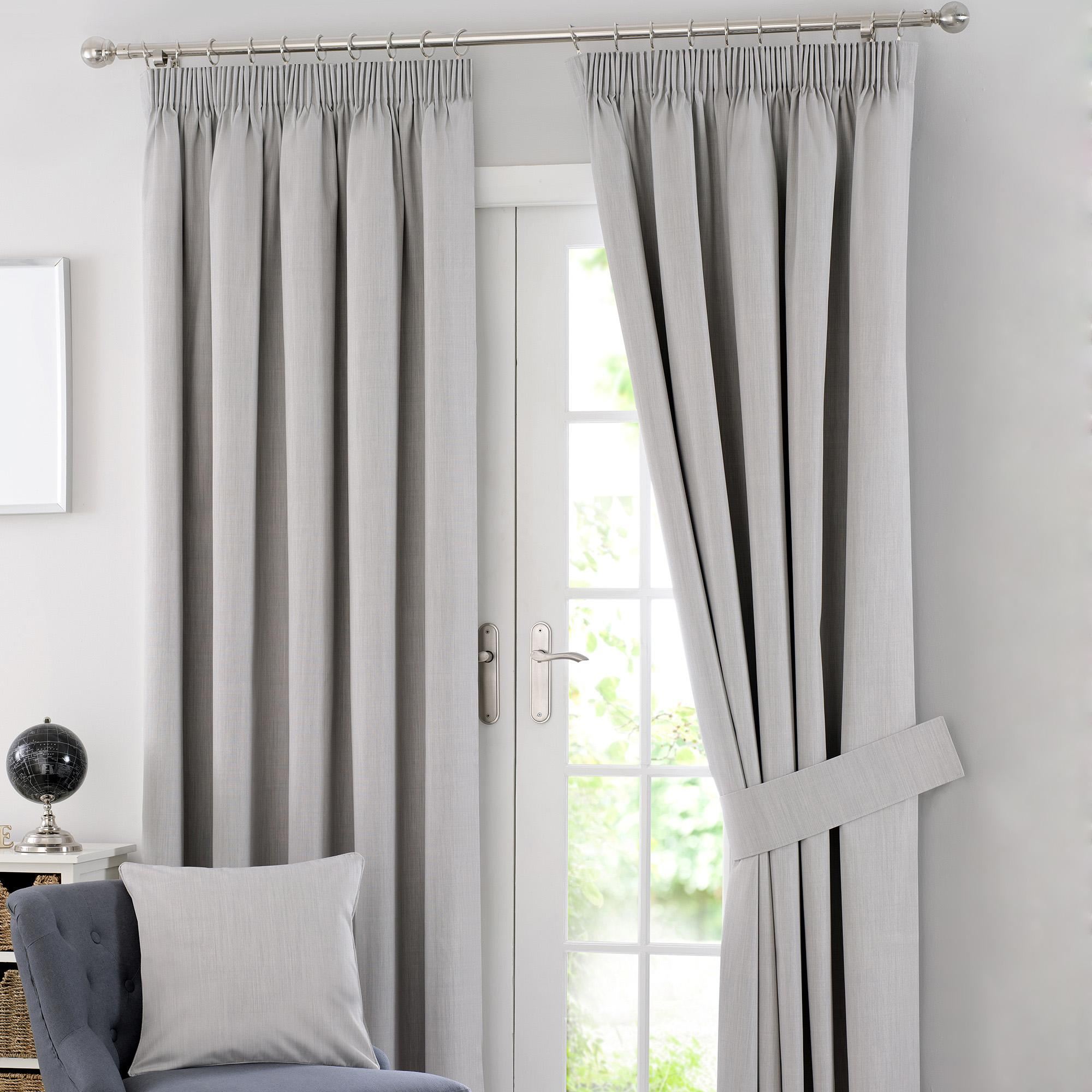 Attractive solar grey blackout pencil pleat curtains hvujdox
