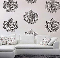 Attractive stencils for walls damasque wall stencil lgupvjh