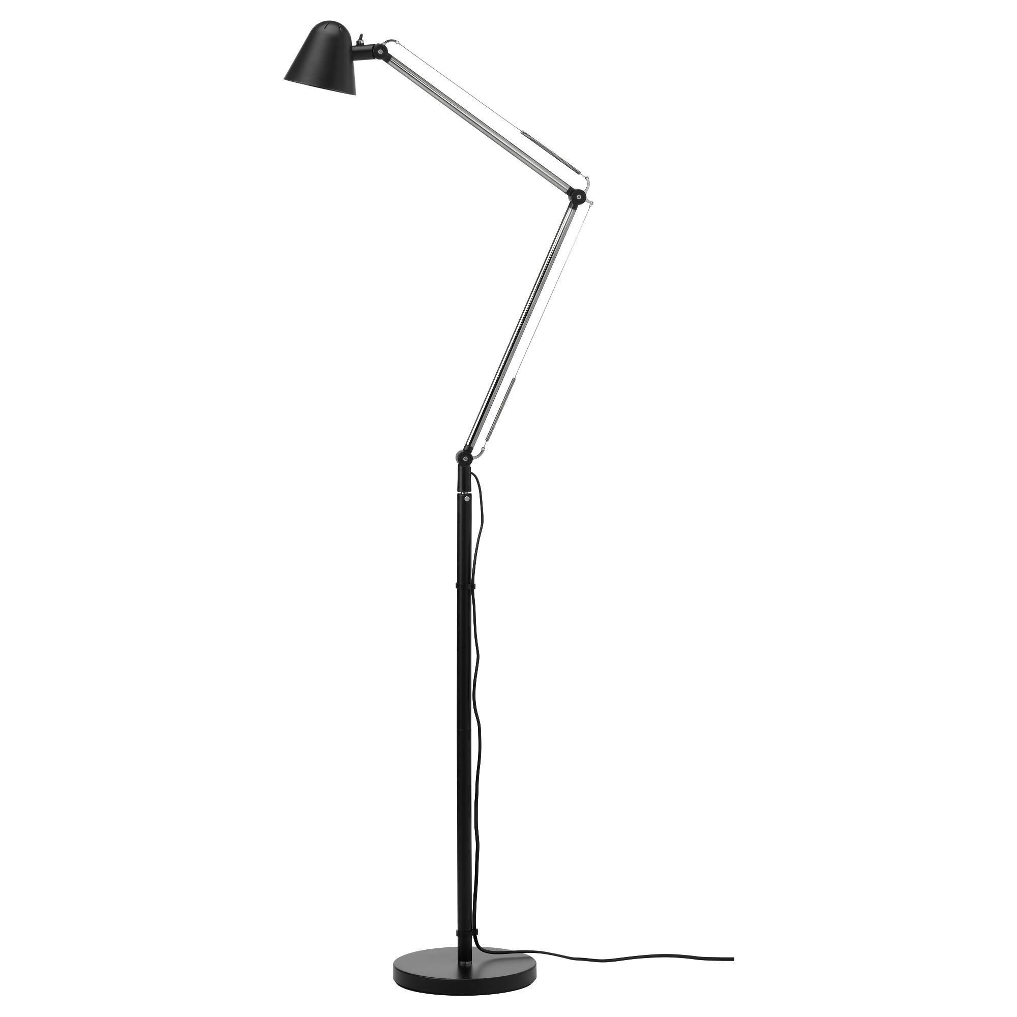 Attractive uppbo floor/reading lamp with led bulb, black max.: 6 w height gmlfbnt