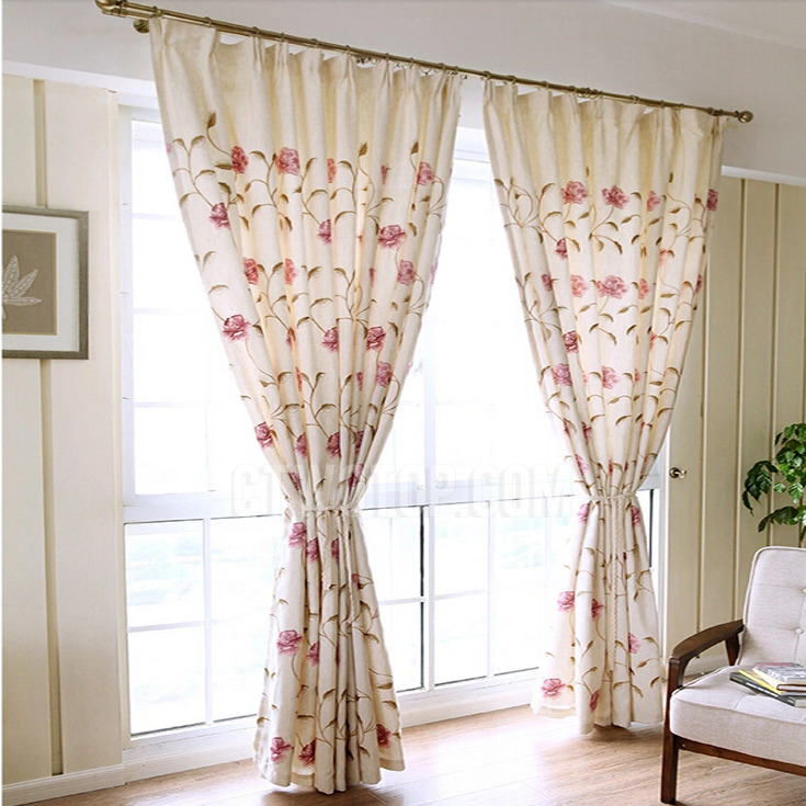 Attractive vintage curtains vintage retro curtains with embroidery flowers for bedrooms pejfkqf