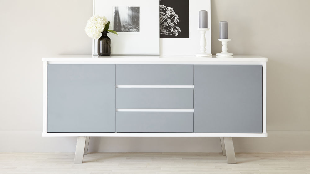 Attractive white sideboard modern white and grey gloss sideboard shgidft