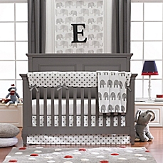 Awesome baby crib sets image of liz and roo elephants 3-piece crib bedding set in grey qowtghn