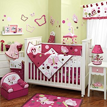 Awesome baby crib sets raspberry swirl 6 piece baby crib bedding set with bumper by lambs u0026 fbcpxcn