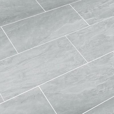 Awesome bathroom floor tiles snapstone oyster grey 12 in. x 24 in. porcelain floor tile (8 sq. rroeqmx