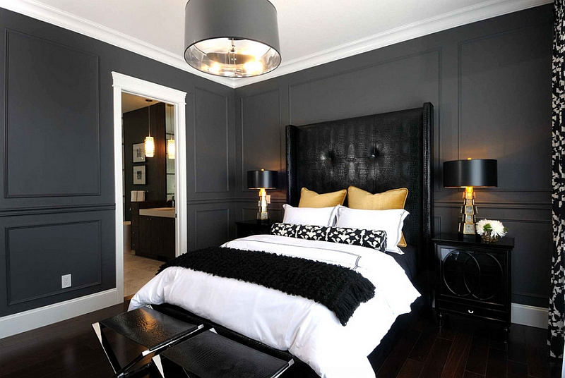 Awesome black and white bedroom bold black and white bedrooms with bright pops of color foembaw