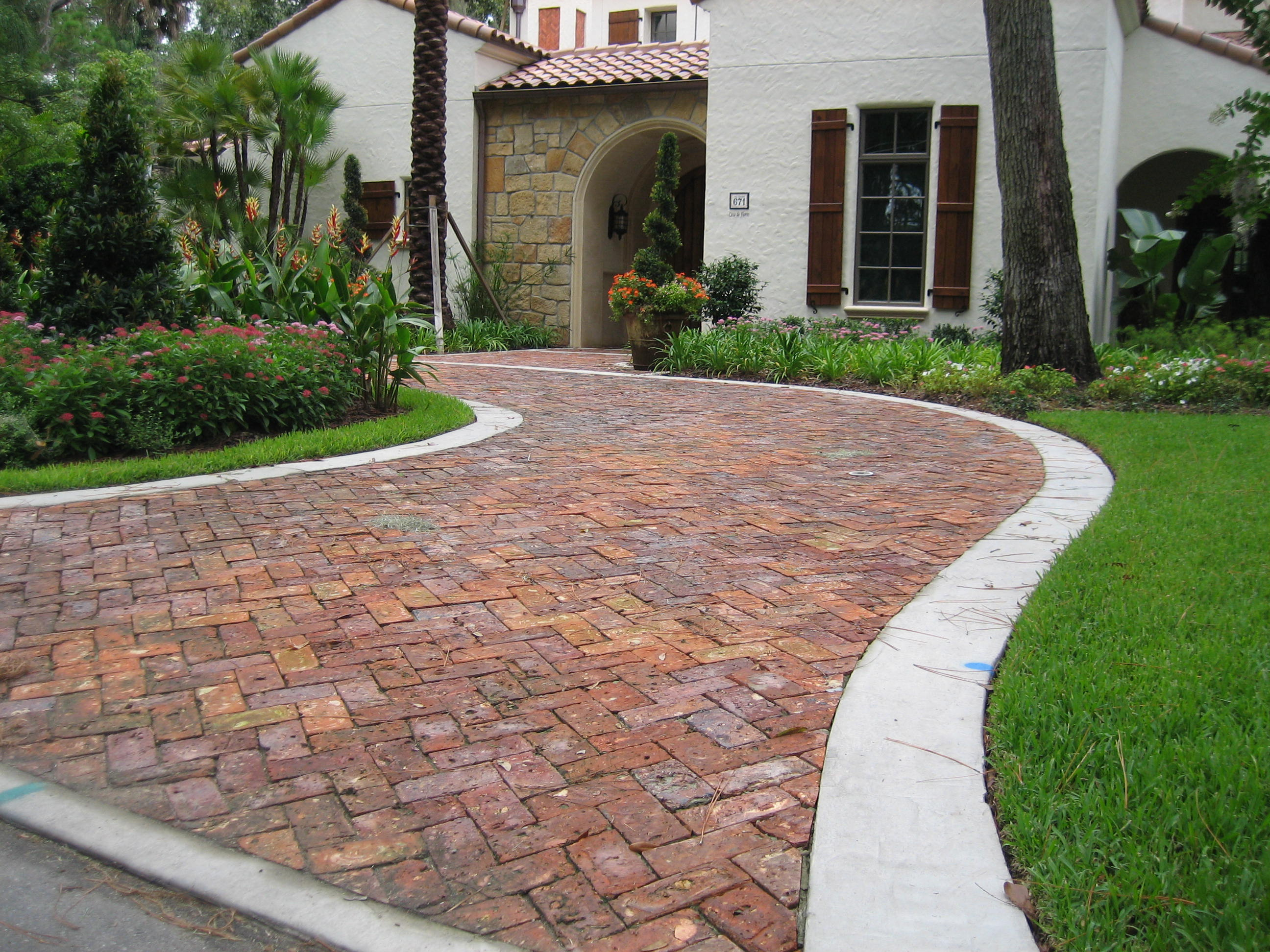 Brick pavers for exterior flooring