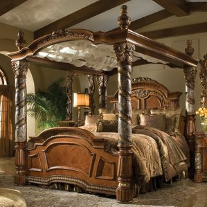 Awesome canopy beds villa valencia canopy bed wiltgui