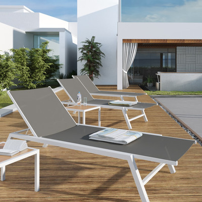 Awesome chaise lounge outdoor urbanmod outdoor chaise lounge u0026 reviews | wayfair hvvvvxn