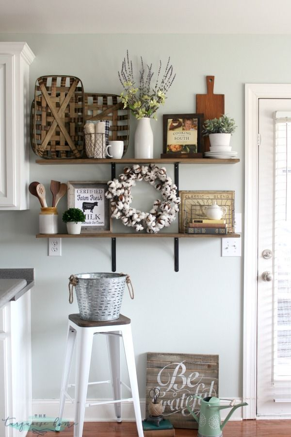 Awesome kitchen decorating ideas decorating shelves in a farmhouse kitchen cjiabwd
