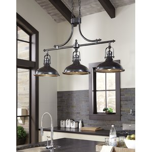 Awesome kitchen island lighting martinique 3-light kitchen island pendant qeovawp