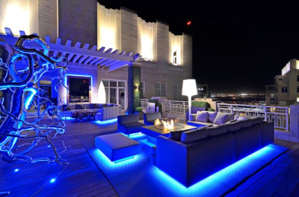 Awesome led lights for home modern rooftop garden featuring very bright led lighting ... mnowftz