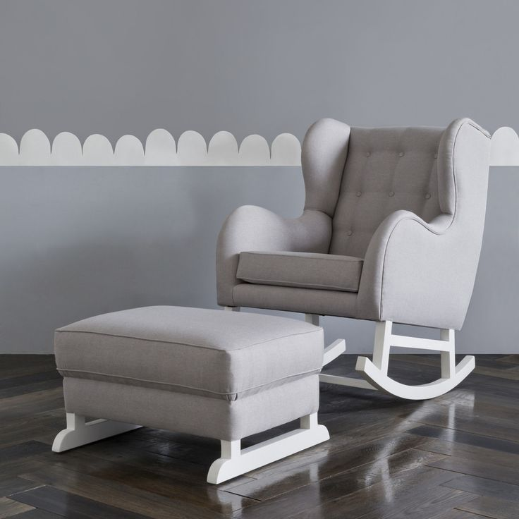 Awesome nursing chair hobbe tufted grey rocking chair nursery furniture the life creative lamgijy