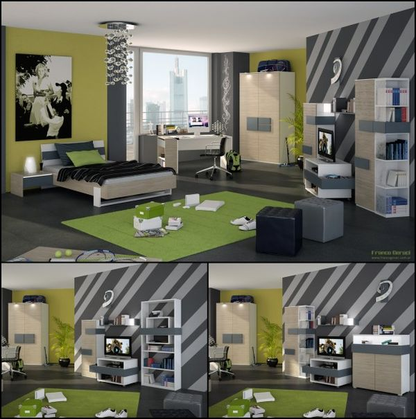 Awesome teen boy bedroom ideas ... boyu0027s bedroom with cozy interior and sports-related decorations view in  gallery urpkpuo
