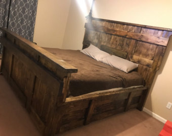 Awesome wooden bed frames wood bed frame | etsy uxdfibe