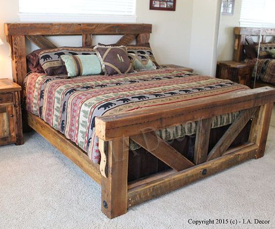 Awesome wooden beds homemade wooden bed frames - google search mptrbkg
