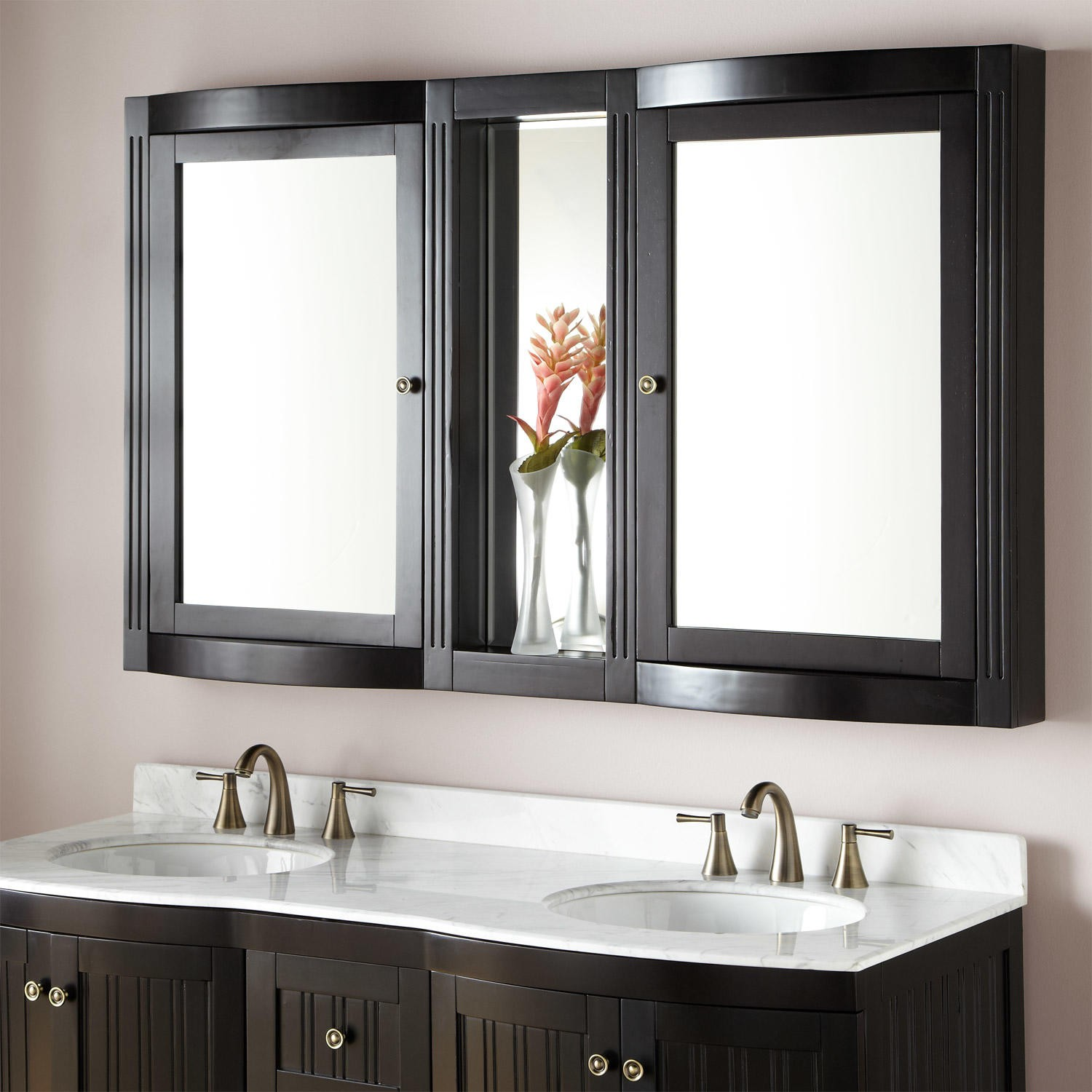 Beautiful bathroom mirror cabinets this luxurious wall cabinet features two mirrored cabinets, with an open  shelf imfhypq