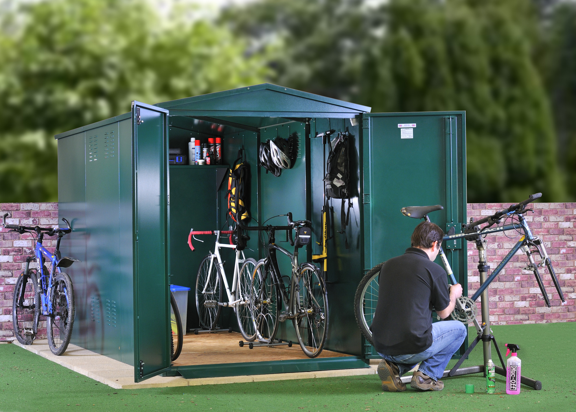 Beautiful bike shed metal bike storage - secured by design - police approved specification ... kyprhqv