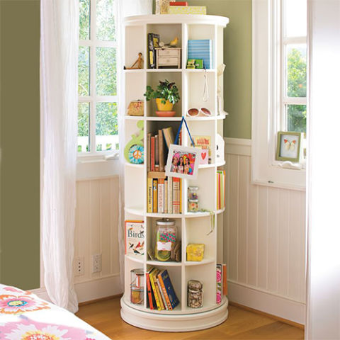 Beautiful book case for kids pbteen revolving bookcase swjjrik