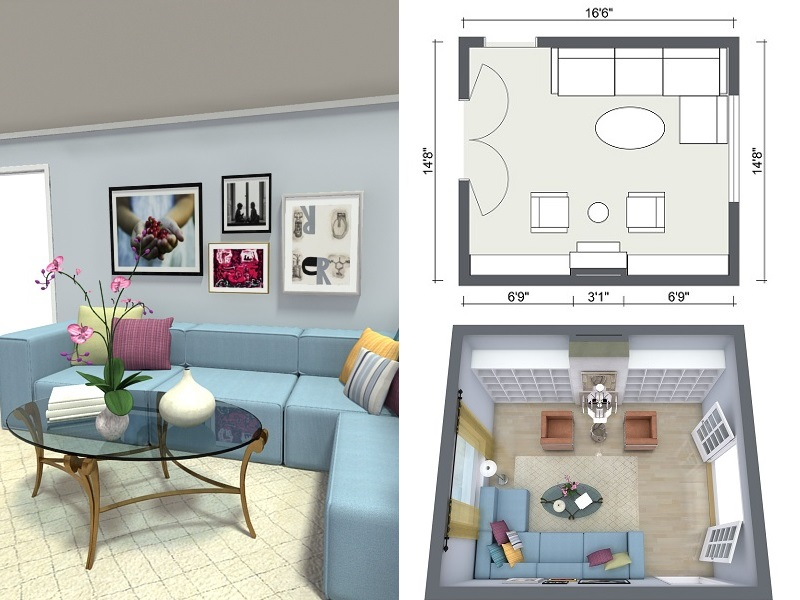 Beautiful design a room roomsketcher room planner - 3d photo and floor plans of a room design aeqbwip