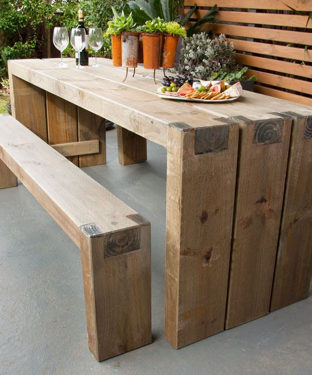 Outdoor table – simple and functional
