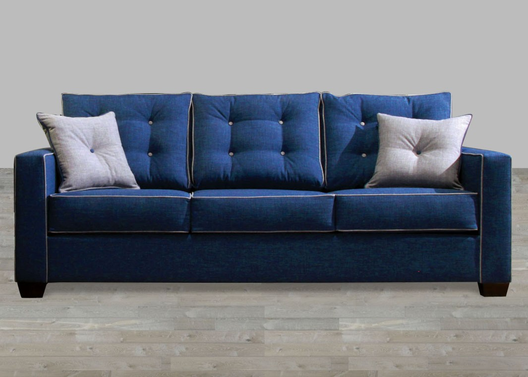 Beautiful fabric sofas contemporary style blue fabric sofa with pillow rolled arm bnryocc