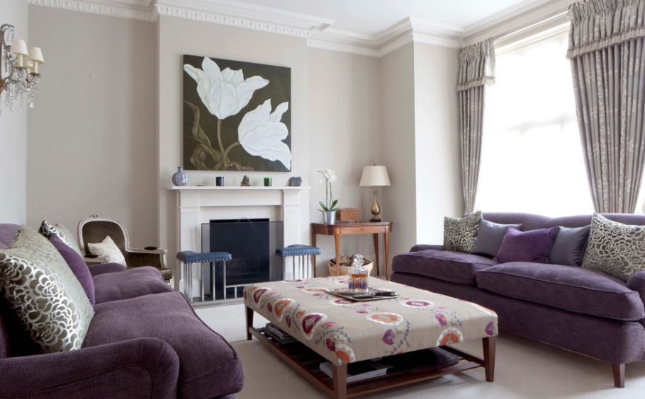 Beautiful how to match a purple sofa to your living room décor xulspzx
