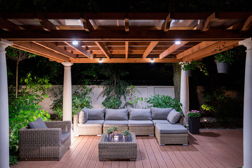 Beautiful image of: outdoor lighting ideas for summer vkpagfy