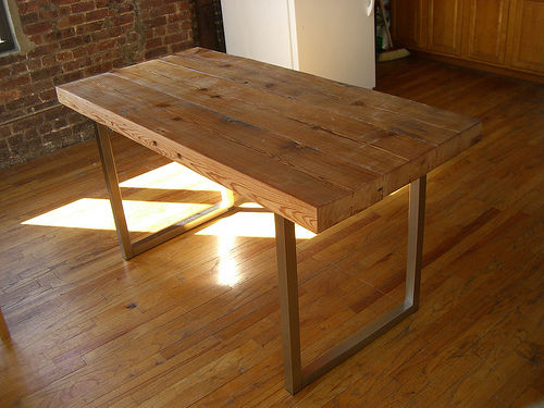 Beautiful introduction: reclaimed wood table osrdasy